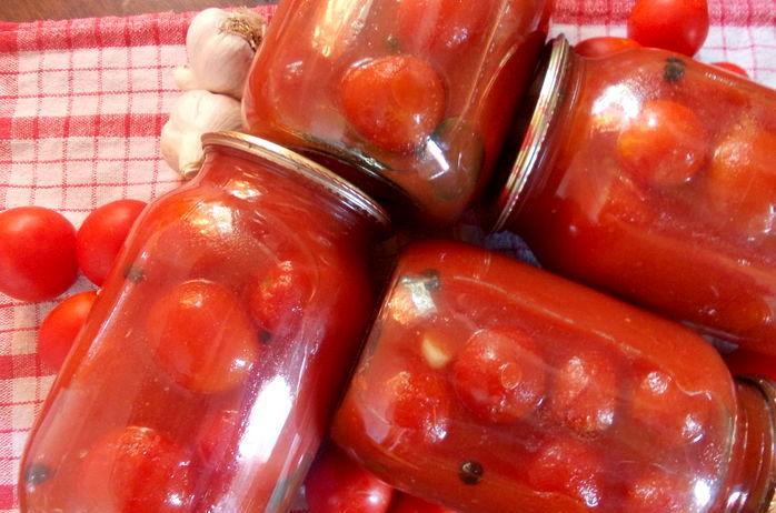 Помидоры в томатном соке рецепт на зиму