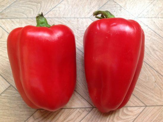 крупные красные перцы