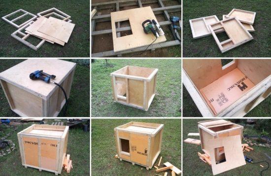 деревянная будка пошагово
