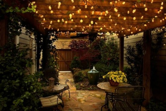 красивое освещение для террасы