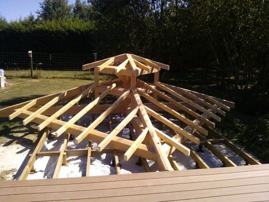стропильная система крыши для беседки