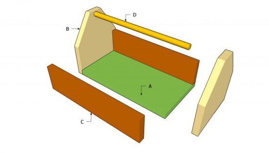 схема изготовления деревянного ящика