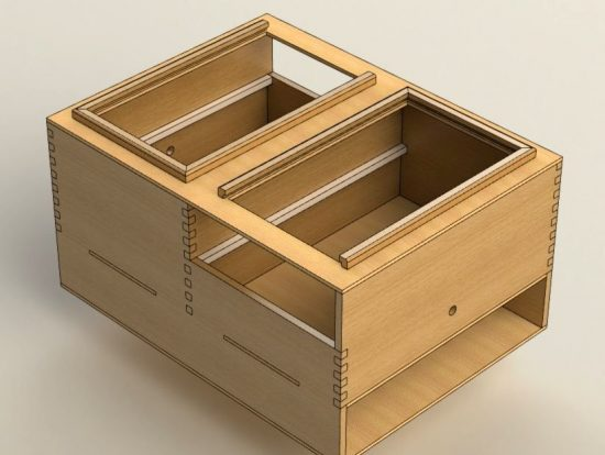 простой самодельный ящик для инструментов