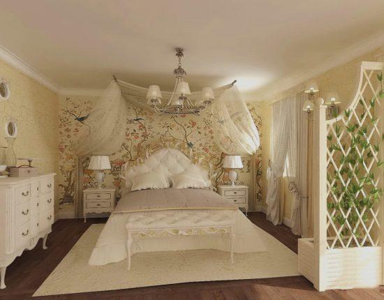 светлые оттенки в спальне
