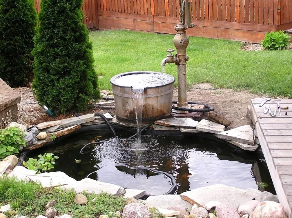 Дачный фонтан своими руками фото