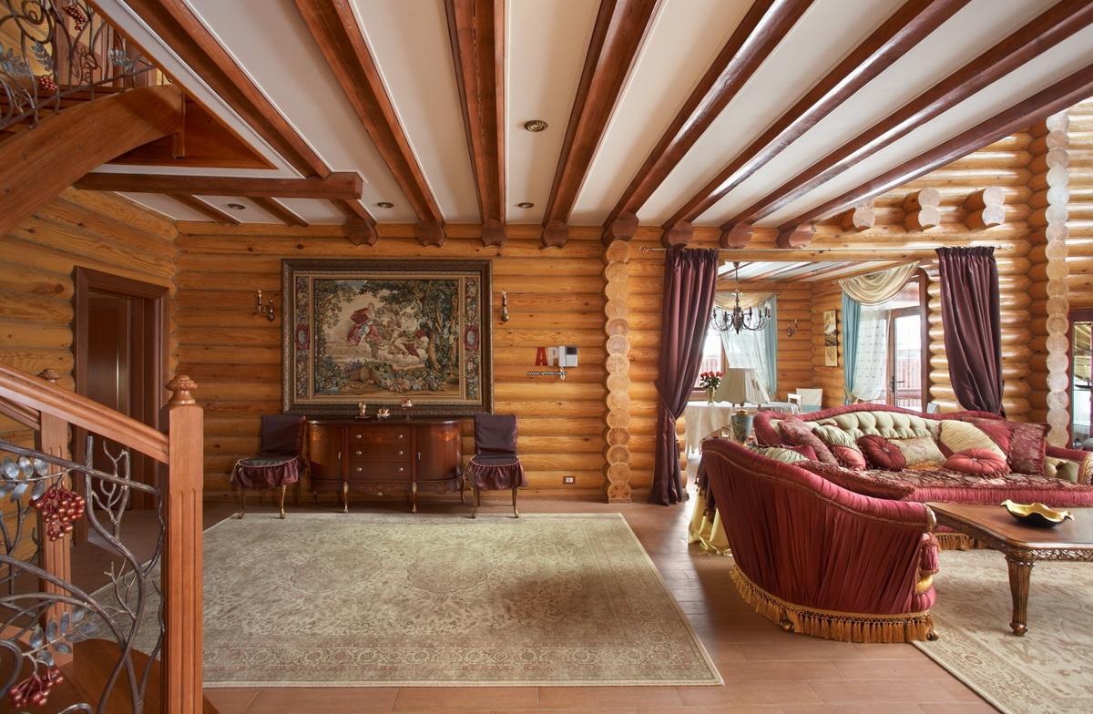 фото деревянных домов из бревна внутри