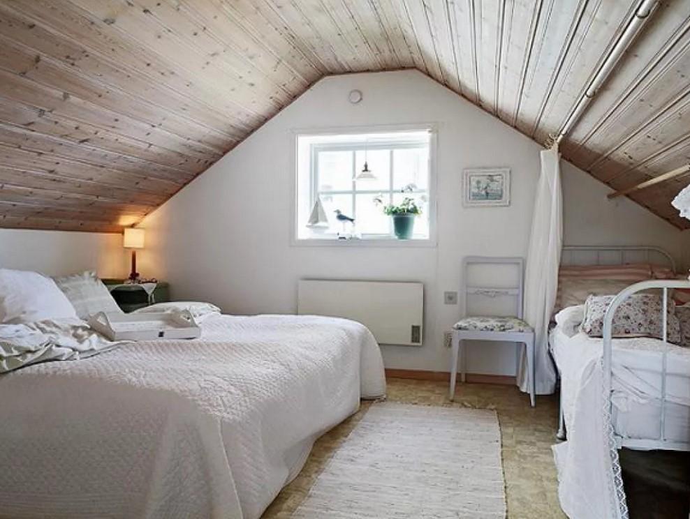 Комната на чердаке под крышей фото