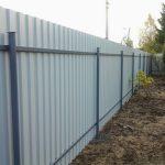 Забор из профнастила частного дома