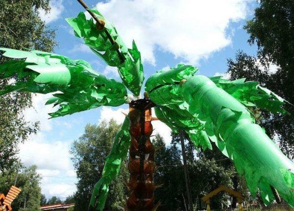 Пальма из пластиковых бутылок: как сделать своими руками, пошаговая инструкция с фото поэтапного изготовления