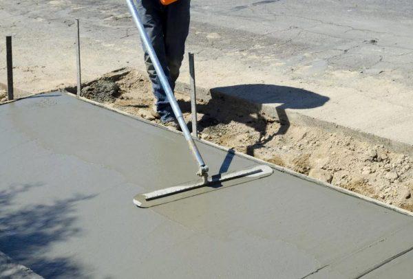 Как залить двор бетоном