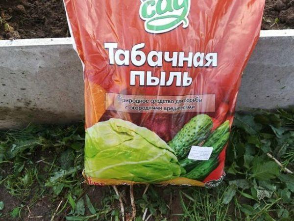 Табачная пыль для обработки огурцов